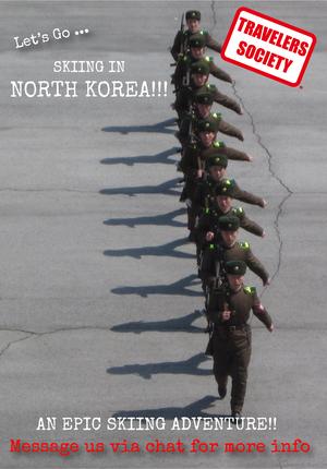 Travelers Society: Let's hit the slopes in… North Korea!!! (CNY)