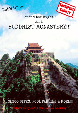 Travelers Society: Lets go...sleep in a Buddhist Monastery!!!