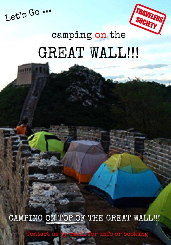 Travelers Society: Let's go...camping on the Great Wall!!! (24-26 May)
