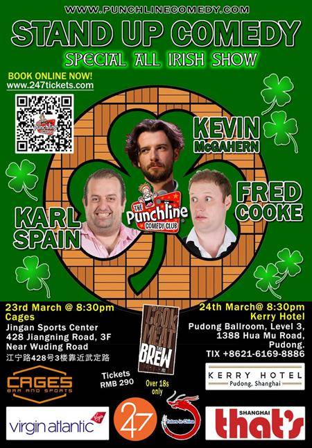 The Punchline Comedy Club All Irish Show - Shanghai March 23