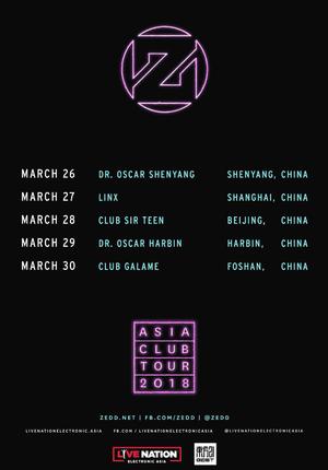 ZEDD ASIA CLUB TOUR 2018 Live in Shanghai