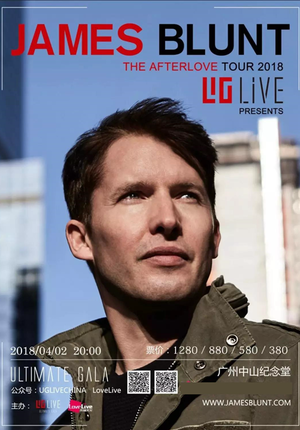 James Blunt: THE AFTERLOVE TOUR Live in Guangzhou