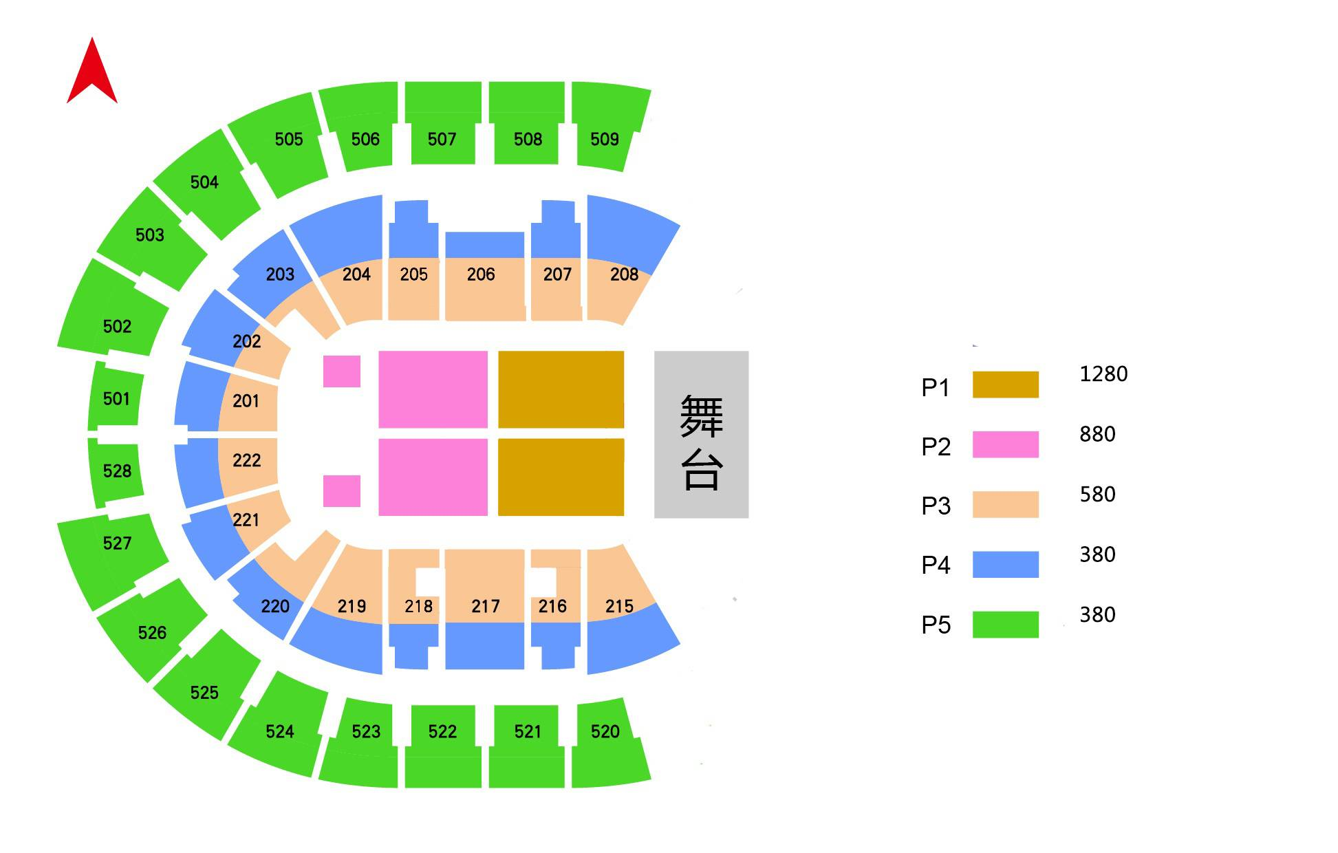 Fall Out Boy Shanghai Seating Map