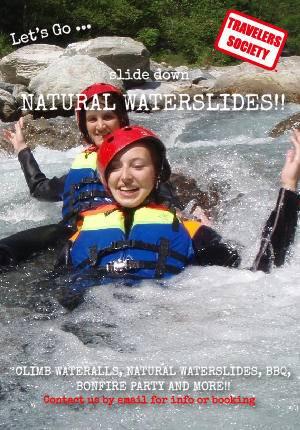 Travelers Society: Let's go...slide down natural water slides!!! (August 31 - September 2)