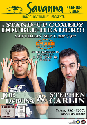 Savanna Premium Cider presents Joe DeRosa and Stephen Carlin