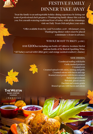 The Westin Festive Family  Dinner Take Away