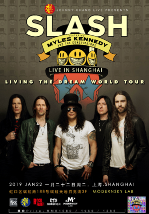 "Slash Ft.Myles Kennedy & The Conspirators ""Living the dream"" World Tour Live in Shanghai"