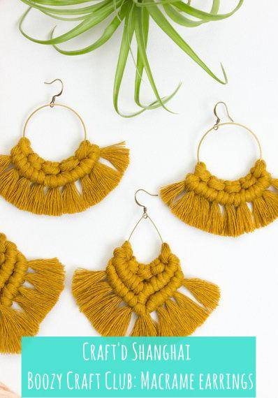 Craft'd Shanghai - Macrame Earrings