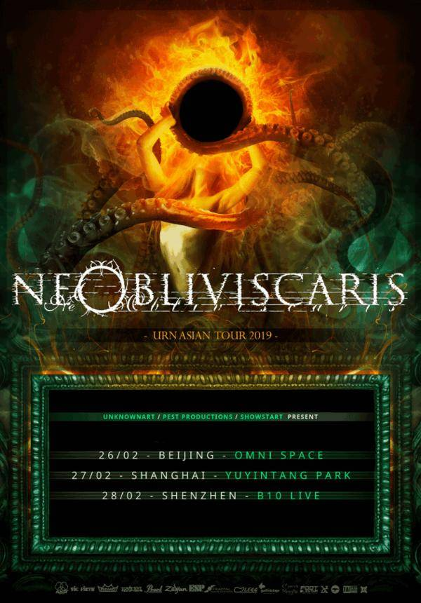 "Ne Obliviscaris ""Urn"" Asian Tour 2019 - Shanghai"