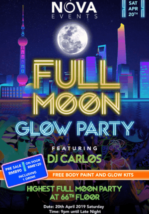 Full Moon Glow Party