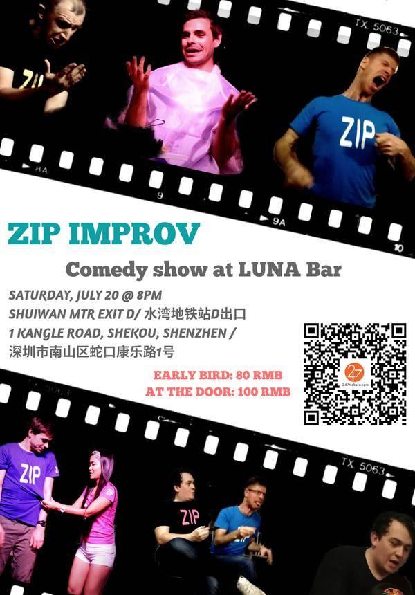 ZIP Improv Comedy Show @ Luna  Bar