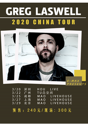 Greg Laswell 2020 China Tour - Shanghai