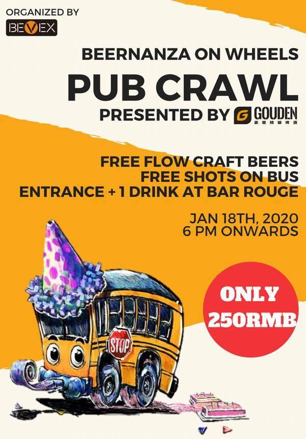 Gouden Beer pres. Beernanza on Wheels-pub Crawl