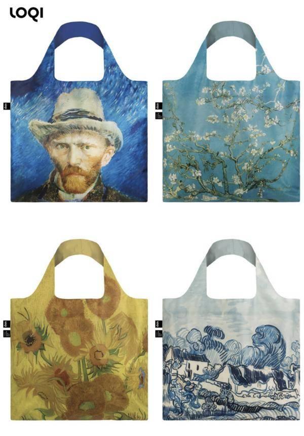 LOQI x Van Gogh Museum Tote Bags/Zip Pockets