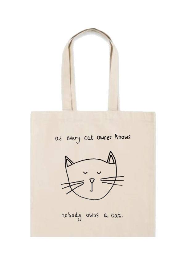 Doodles: Cats Own Us Tote Bag