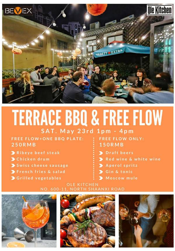 Outdoor Terrace BBQ and Free flow!