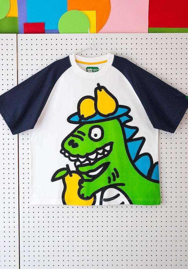 Corade Dinosaur Eats Pears T-shirt