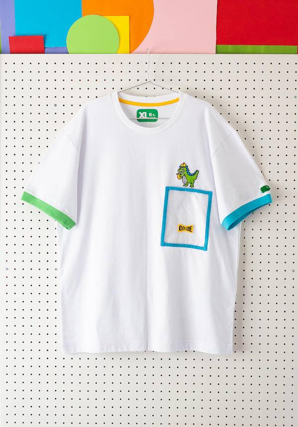 Corade Dinosaur Eats Pears T-shirt with Pocket
