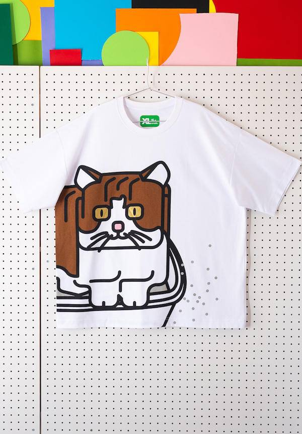 Corade Square Cat T-shirt