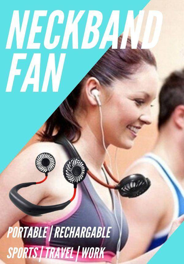USB Rechargeable Neckband Fan