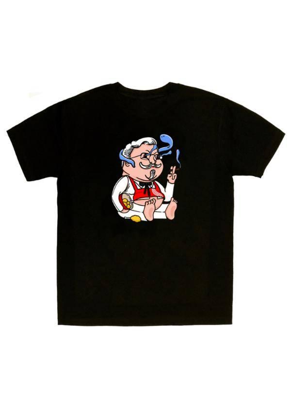 UNDERINSANE Colonel Drunk Smoking T-shirt