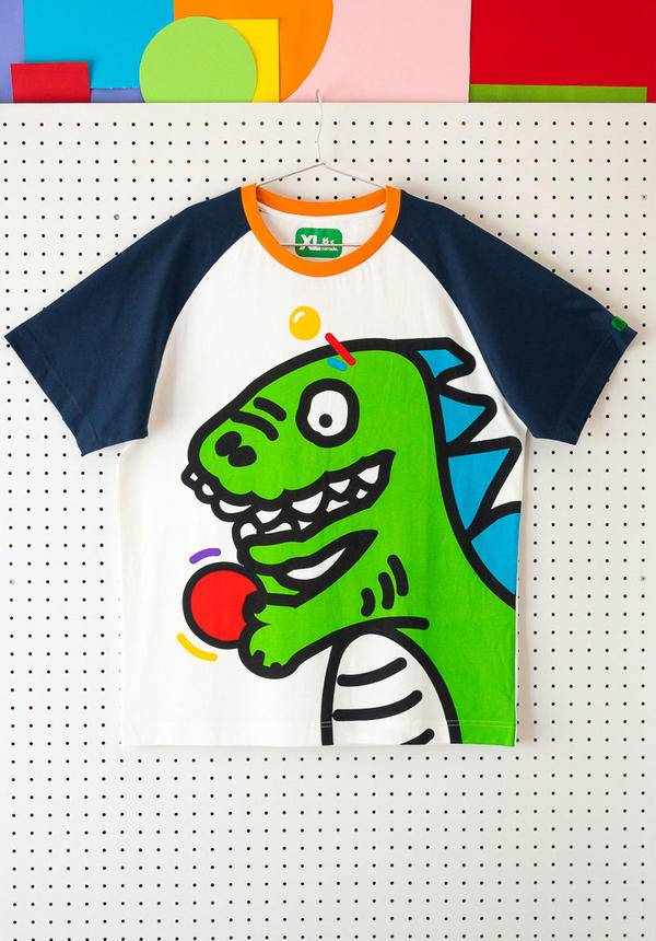 Corade Sorsor Ping Pong Dinosaur T-shirt