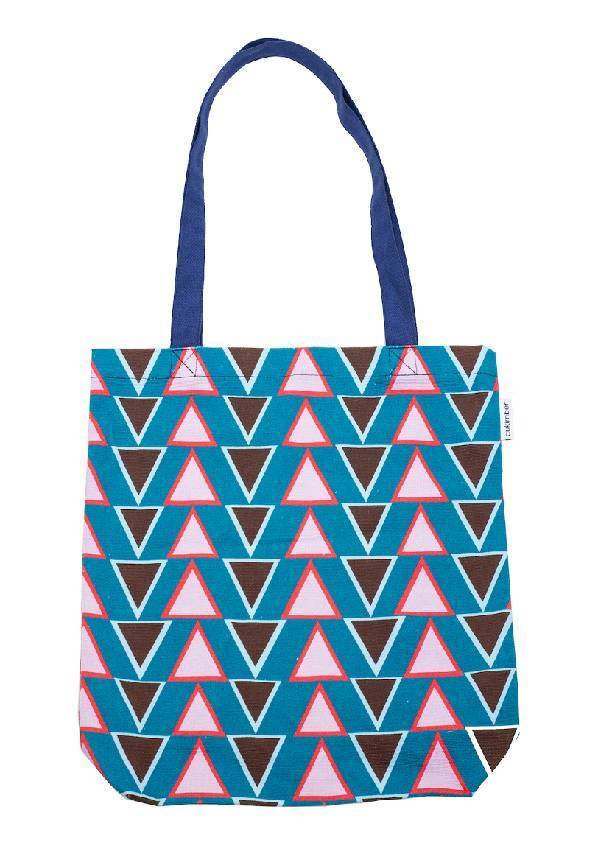 Cukimber: Stacked Triangles Canvas Tote