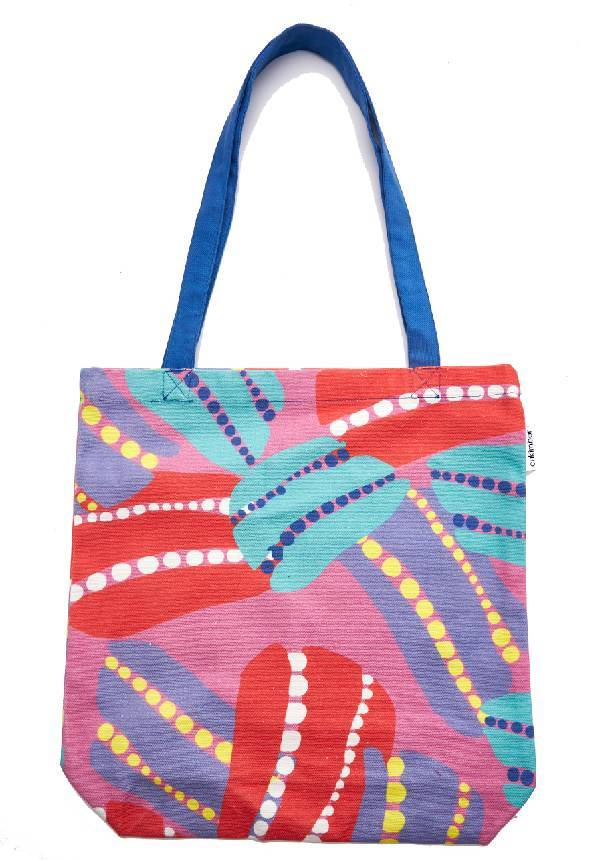 Cukimber: Pink Anemone Canvas Tote