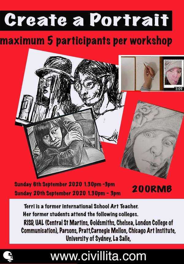 Workshop Introduction Portraiture Drawing @ Civillita Art Supplies and Studio Space