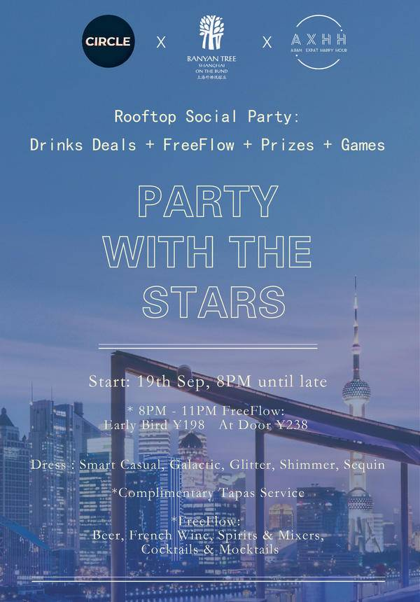 PARTY WITH THE STARS @ TOPS Roof  Bar