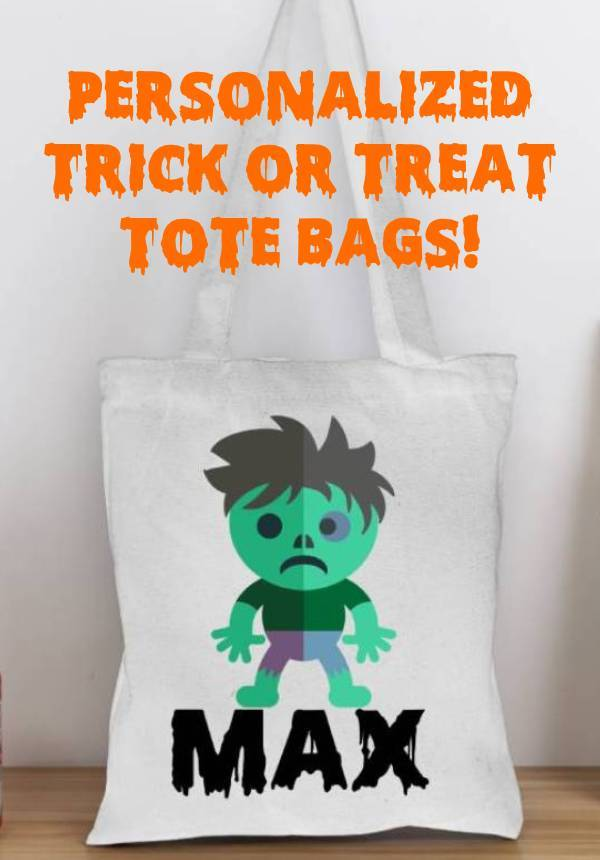 Personalized Trick or Treat Bags!