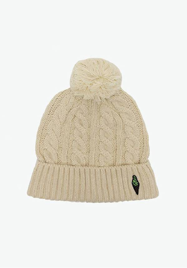 Corade: Knitted Bobble Hat (Cream)