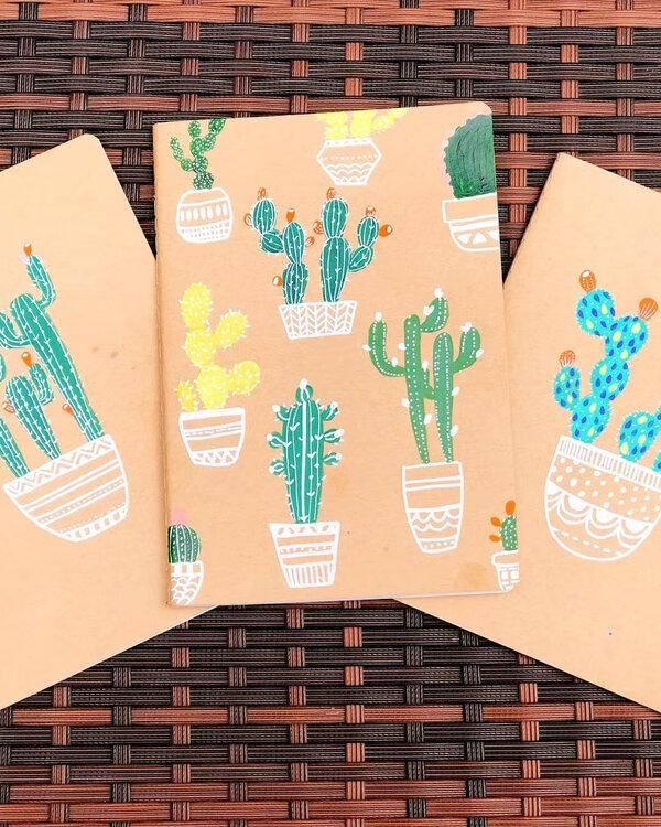 CRAFT CLUB: Cactus Notebook Painting